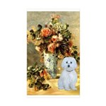 Vase / Maltese (B) Sticker (Rectangle 10 pk)