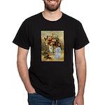 Vase / Maltese (B) Dark T-Shirt