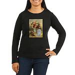 Vase / Maltese (B) Women's Long Sleeve Dark T-Shir