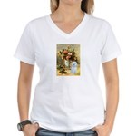 Vase / Maltese (B) Women's V-Neck T-Shirt