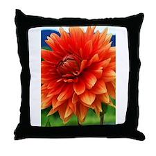 Orange Dalia Throw Pillow