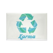 Recycle Karma Rectangle Magnet