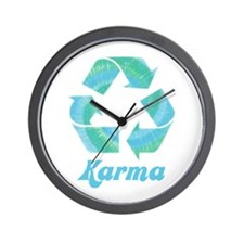 Recycle Karma Wall Clock