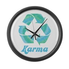 Recycle Karma Large Wall Clock