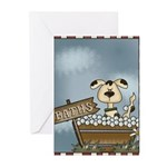 Puppy's Bathtime Greeting Cards (Pk of 10)