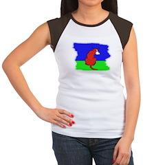ARTISTIC CARTOON DOG Women's Cap Sleeve T-Shirt