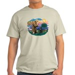 St Francis #2/ Belgian Shep Light T-Shirt