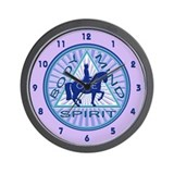 Dressage : One Spirit - Blue Wall Clock