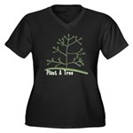 Plant A Tree Women's Plus Size V-Neck Dark T-Shirt