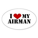 I Love My Airman Oval Decal