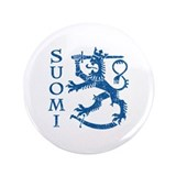 "Suomi Coat of Arms 3.5"" Button"