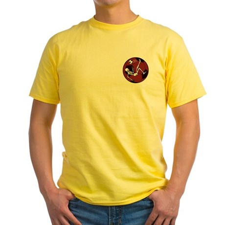 Soccer Skeleton Yellow T-Shirt