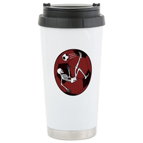 Soccer Skeleton Ceramic Travel Mug