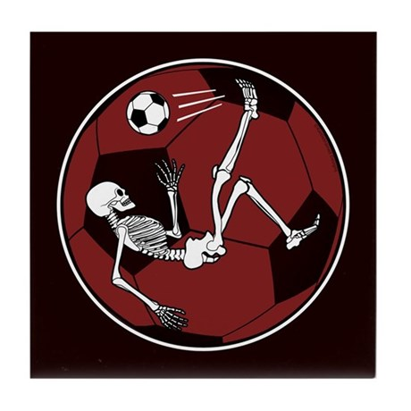 Soccer Skeleton Tile Coaster
