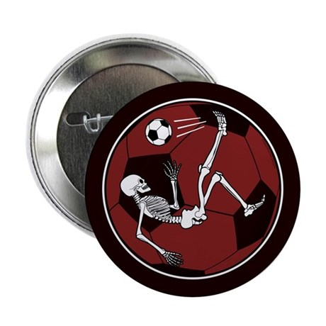 "Soccer Skeleton 2.25"" Button"