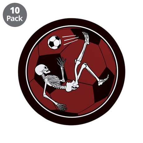 "Soccer Skeleton 3.5"" Button (10 pack)"