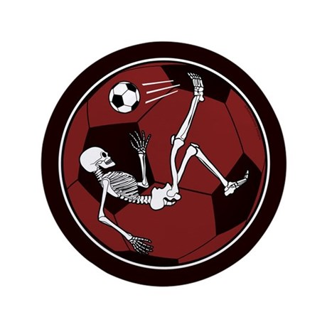"Soccer Skeleton 3.5"" Button (100 pack)"