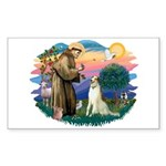 St Francis #2/ Borzoi Sticker (Rectangle)