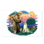 St Francis #2/ Borzoi Postcards (Package of 8)
