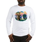 St Francis #2/ Borzoi Long Sleeve T-Shirt