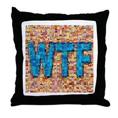 WTF Photo Montage Throw Pillow