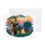 St Francis #2/ Shar Pei (#2) Greeting Cards (Pk of