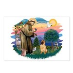 St Francis #2/ Shar Pei (#2) Postcards (Package of