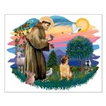 St Francis #2/ Shar Pei (#2) Small Poster