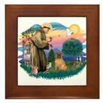 St Francis #2/ Shar Pei (#3) Framed Tile