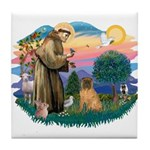 St Francis #2/ Shar Pei (#3) Tile Coaster