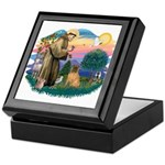 St Francis #2/ Shar Pei (#3) Keepsake Box