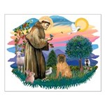 St Francis #2/ Shar Pei (#3) Small Poster