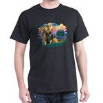 St Francis #2/ Shar Pei (#3) Dark T-Shirt