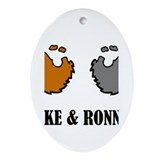 Luke and Ronnie Ornament (Oval)