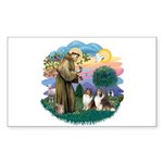 St Francis 2F - Two Shelties Sticker (Rectangle)