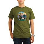 St Francis 2F - Two Shelties Organic Men's T-Shirt