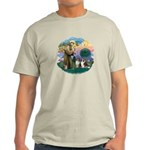 St Francis 2F - Two Shelties Light T-Shirt