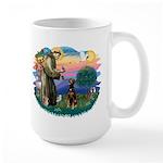 St Francis #2/ Doberman Large Mug