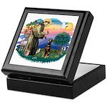 St Francis #2/ Doberman Keepsake Box