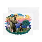 St Francis #2/ Doberman Greeting Card