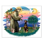 St Francis #2/ Doberman Small Poster