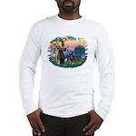 St Francis #2/ Doberman Long Sleeve T-Shirt