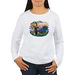 St Francis #2/ Doberman Women's Long Sleeve T-Shir