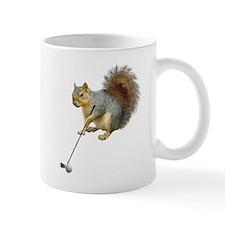 Golfing Squirrel Small Mug