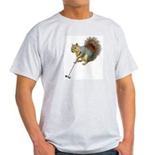 Golfing Squirrel T-Shirt