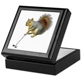 Golfing Squirrel Keepsake Box