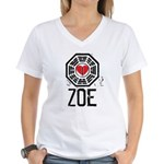 I Heart Zoe - LOST Women's V-Neck T-Shirt
