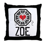 I Heart Zoe - LOST Throw Pillow