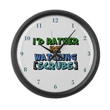 Scrubs TV Large Wall Clock
