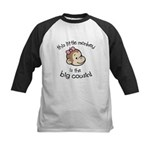Big Cousin - Monkey Face Kids Baseball Jersey